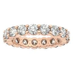 18K Rose Gold Doris Eternity Diamond Ring '2 1/2 Ct. tw'