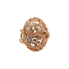 18k Rose Gold Fancy Cocktail Dome Ring