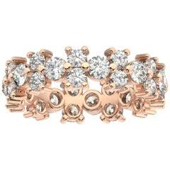 18k Rose Gold Greta Eternity Diamond Ring '2 1/2 Ct. Tw'