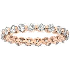 18K Rose Gold Harlow Eternity Diamond Ring '1 1/2 Ct. tw'