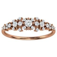 18K Rose Gold Kandi Organic Design Diamond Ring '1/4 Ct. Tw'