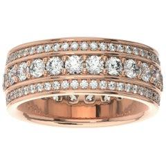 18k Rose Gold Katharine Eternity Diamond Ring '2 Ct. tw'