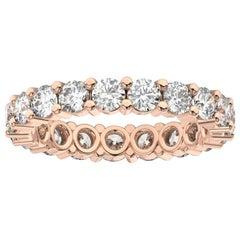 18K Rose Gold Kira Eternity Diamond Ring '2 Ct. tw'