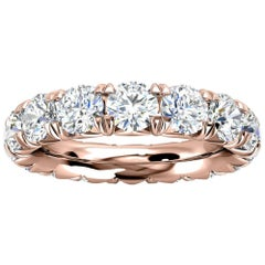 18k Rose Gold Mia French Pave Diamond Eternity Ring '4 Ct. Tw'