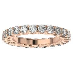 18K Rose Gold Olbia Eternity Diamond Ring '1/2 Ct. Tw'