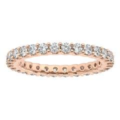 "18K Rose Gold Pavia Eternity ""U"" Diamond Ring '1 Ct. tw'"