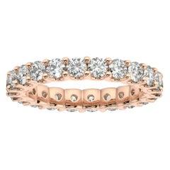 "18K Rose Gold Pavia Eternity ""U"" Diamond Ring '2 Ct. tw'"