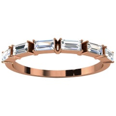 18K Rose Gold Telara Baguette Diamond Ring '1/3 Ct. tw'