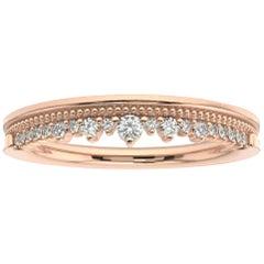 18K Rose Gold Victoria Diamond Ring '1/6 Ct. tw'