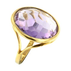 18k Rose Gold with Amethyst Ring