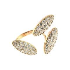 18 Karat Rose/Pink Gold with Diamonds Fashion Cocktail Ring