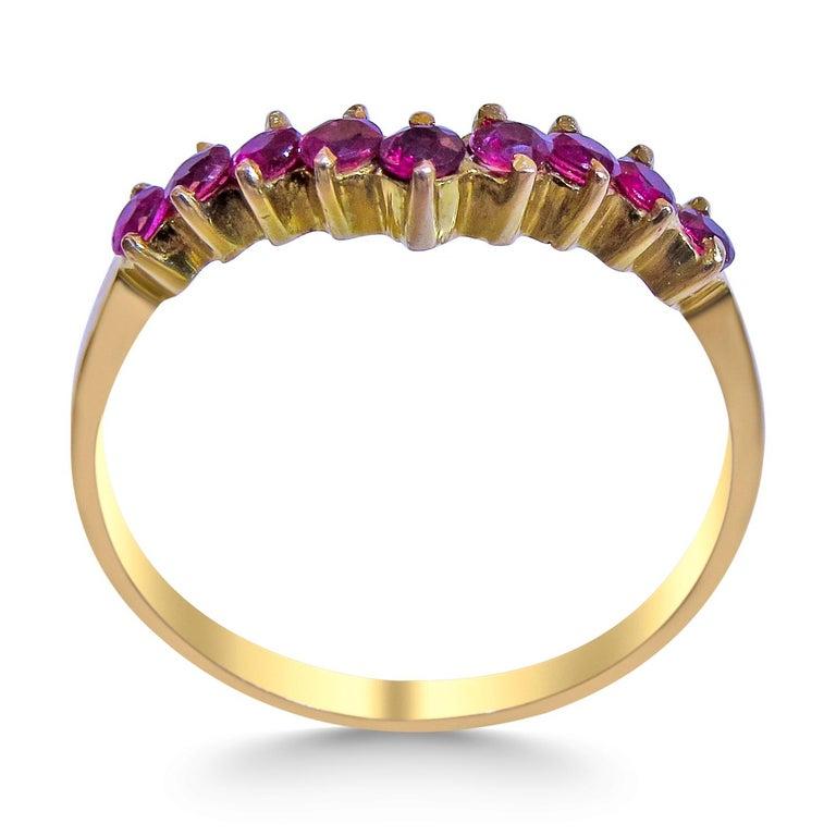 Women's 18 Karat Ruby Ladies Ring For Sale