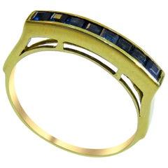 18 Karat Sapphire Ladies Ring