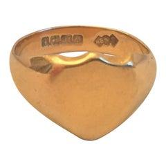 18 Karat Shield Shape Signet Ring