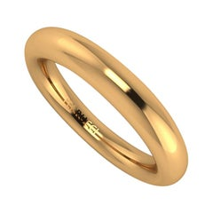 18 Karat Solid Yellow Gold Rounded Band