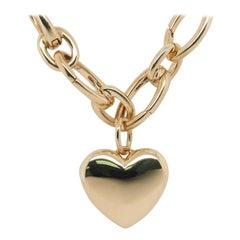 18 Karat Tiffany & Co. Heart Pendant Locket Yellow Gold