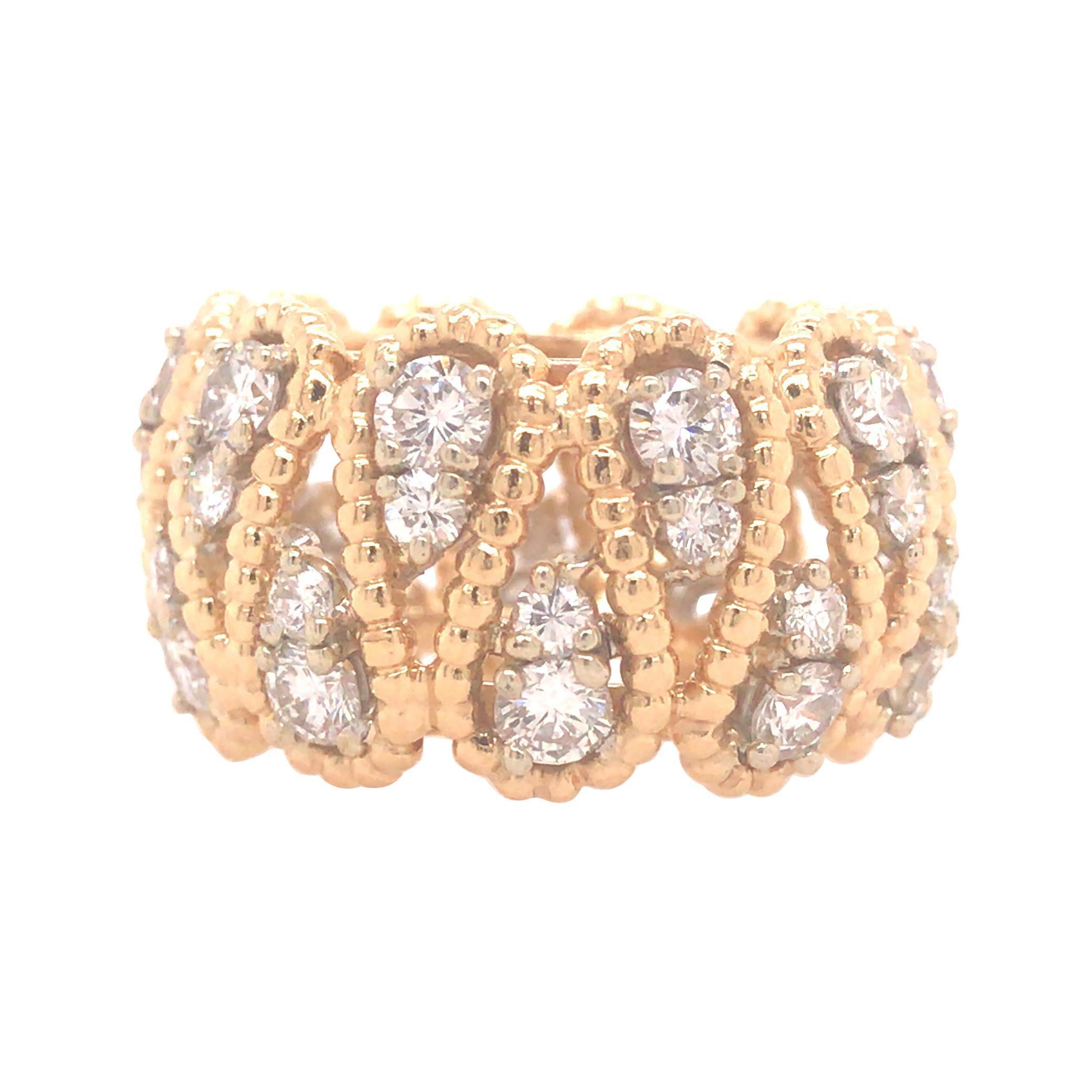 18K Tiffany & Co. Vintage Diamond Eternity Band Two-Tone Gold
