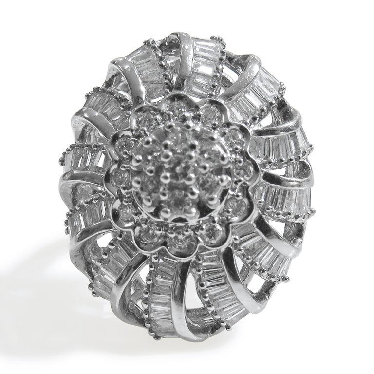 18 Karat Vintage Diamond Set Earring and Ring For Sale 2