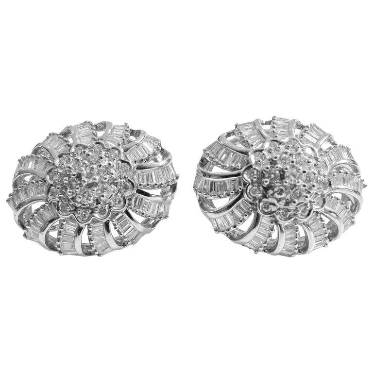 18 Karat Vintage Diamond Set Earring and Ring For Sale