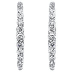 18K White Gold & 0.42 cts White Diamonds Entice Tapered Earrings by Alessa