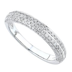 18 Karat White Gold 0.80 Carat Diamond Pavé Ladies Ring