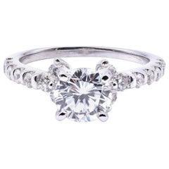 18 Karat White Gold 1.01 Carat Diamond Engagement Ring
