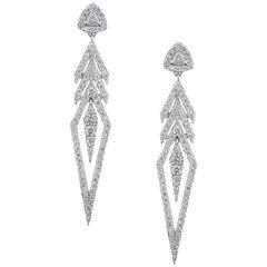 Alessa Arrow Earrings 18 Karat White Gold Amara Collection