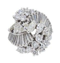 18 Karat White Gold 3.00 Carat Diamond Cocktail Ring