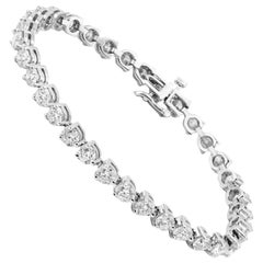 18 Karat Gold 7.85 Carat Three-Prong Diamond Tennis Bracelet 'Each Stone 0.23Ct'