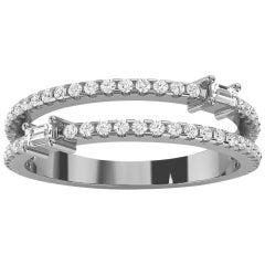 18k White Gold Abigail Diamond Ring '1/3 Ct. Tw'