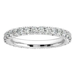 18K White Gold Audrey French Pave Eternity Ring '1 Ct. tw'