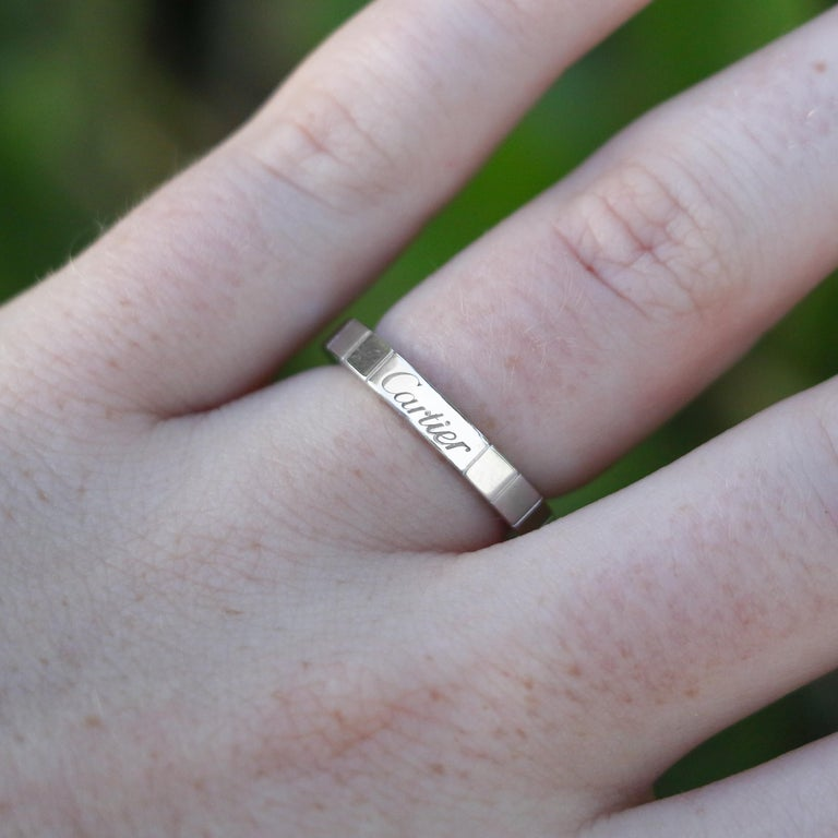 18k White Gold Cartier Ring In Excellent Condition For Sale In Carlsbad, CA