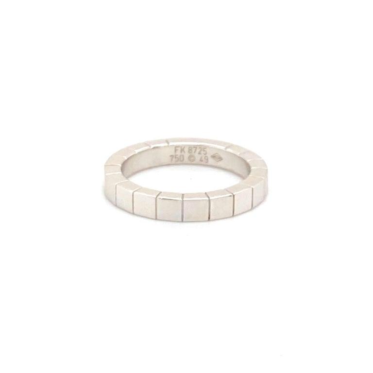 Women's or Men's 18k White Gold Cartier Ring For Sale
