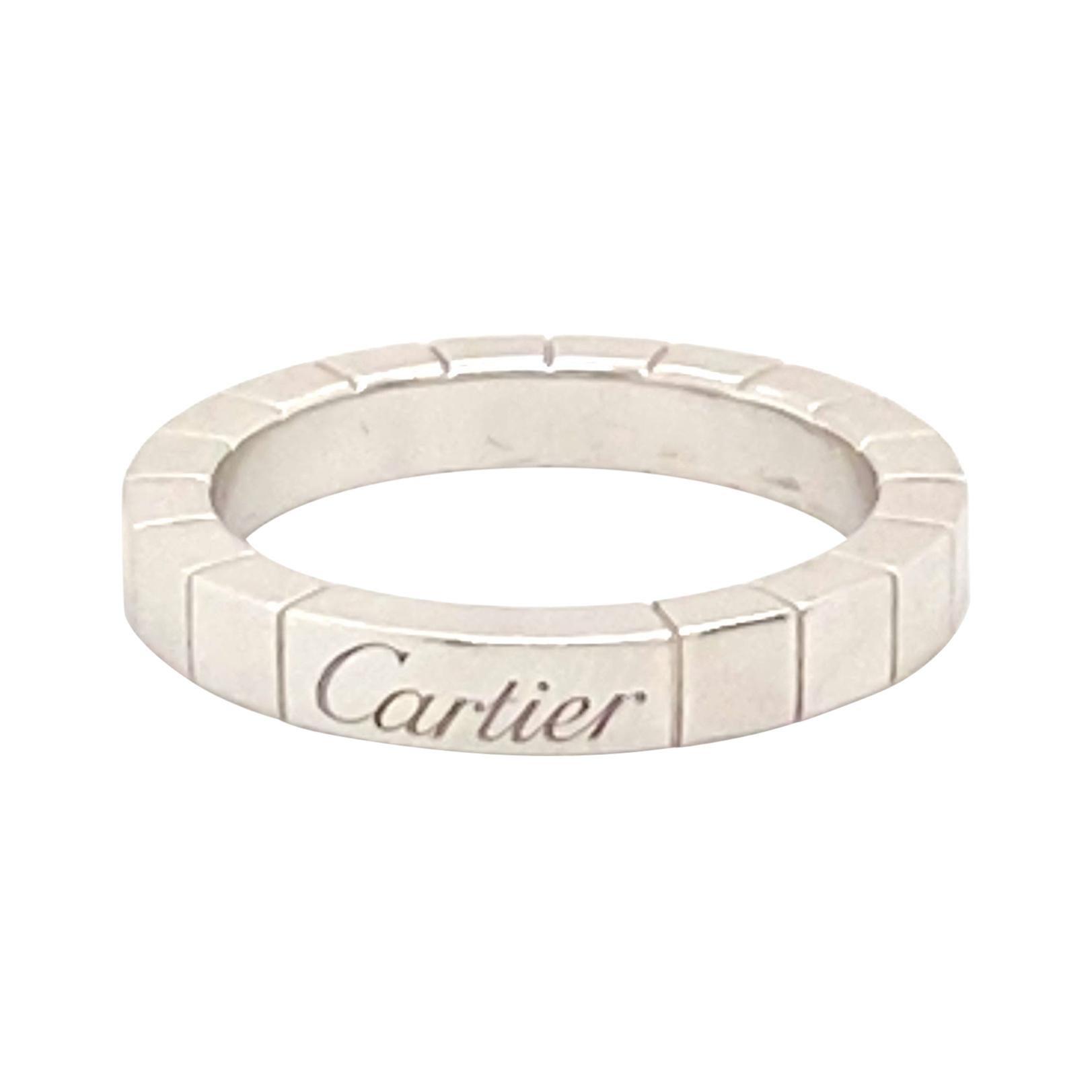 18k White Gold Cartier Ring