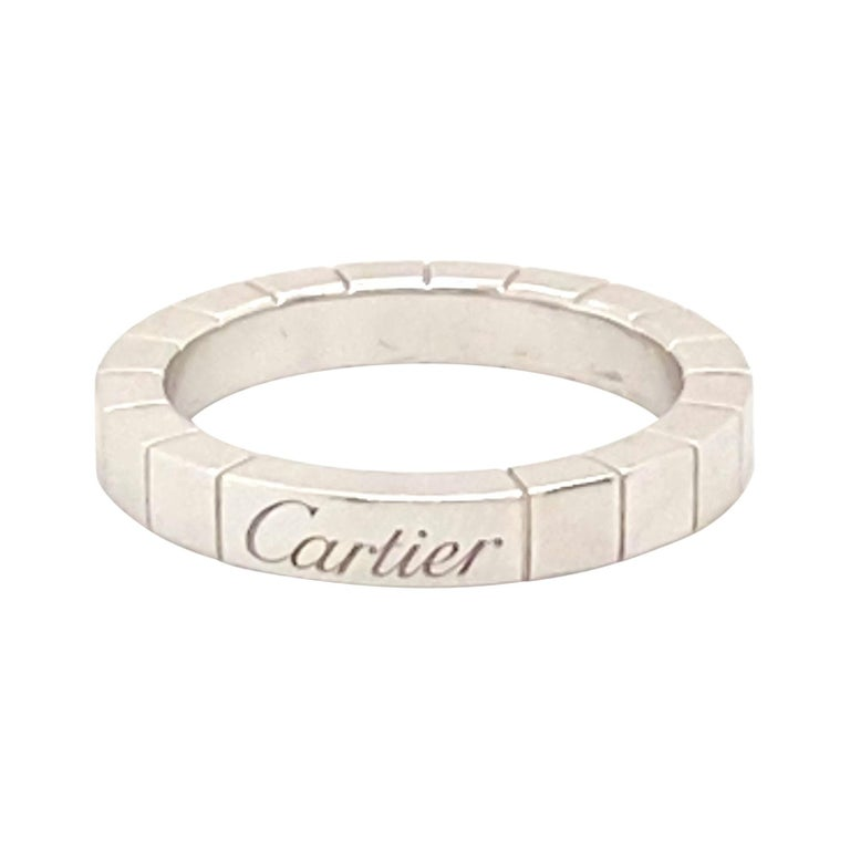 18k White Gold Cartier Ring For Sale