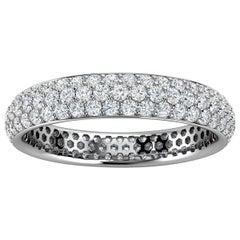 18K White Gold Christa Three Row Eternity Diamond Ring '4/5 Ct. Tw'