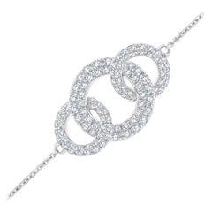 18k White Gold Circle Diamond Bracelet '3/4 ct. tw'