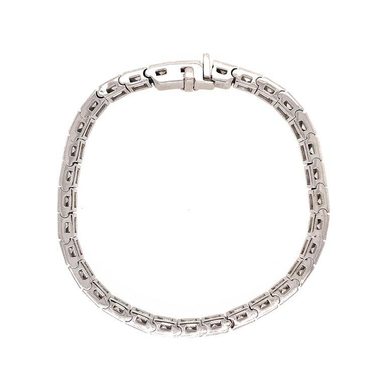 18 Karat White Gold Diamond Block Bracelet For Sale at 1stdibs