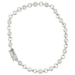 18K White Gold Diamond by the Yard Bracelet