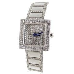 Diamond Wrist Watch 18k White Gold
