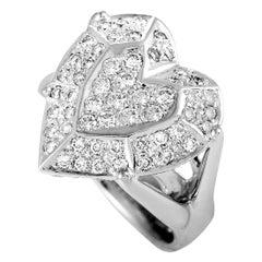 18 Karat White Gold Diamond Heart Ring