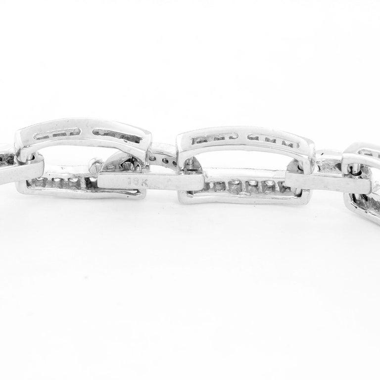 18K White Gold Diamond Link Bracelet  - 2.4 cts. diamond link bracelet set in 18K White gold. Size 6 3/4. Approximately 240 stones. Total weight 16.3 grams.