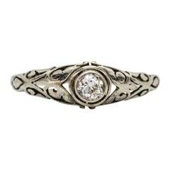 18 Karat White Gold Diamonds Engagement Ring