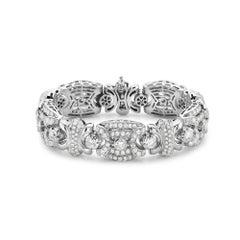 18 Karat White Gold Fashion Diamond Bracelet