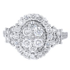 18 Karat White Gold Inner Circle 1.70 Carat Diamond Ring