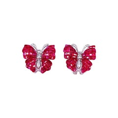 18k White Gold Invisible Butterfly Earrings