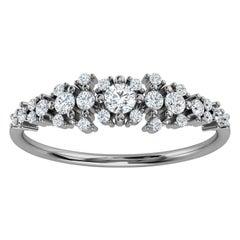 18K White Gold Kandi Organic Design Diamond Ring '1/4 Ct. tw'
