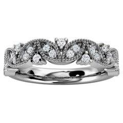 18K White Gold Vera Diamond Ring '1/5 Ct. Tw'