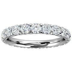 18k White Gold Viola Eternity Micro-Prong Diamond Ring '1 1/2 Ct. tw'