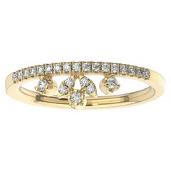 18K Yellow Gold Ales Diamond Ring '1/6 Ct. tw'